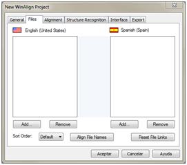 WinAlign - archivos