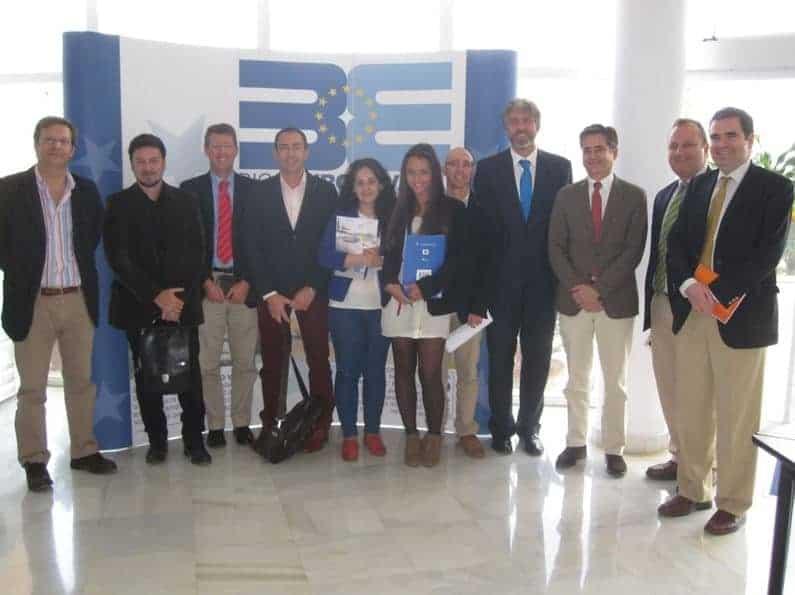 Encuentro de Capacitación Internacional del Proyecto INTERMALAGA, con el Responsable de Internacionalización del ICEX Delegación de Málaga, Rafael Fuentes Candau. En las instalaciones de BIC Euronova, Sala Ingenia. (Foto propiedad de BIC Euronova)