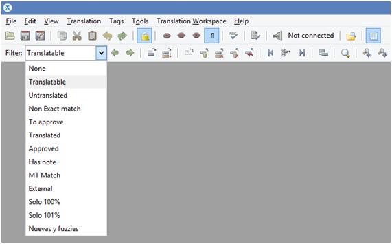 TWS - Creación de filtros