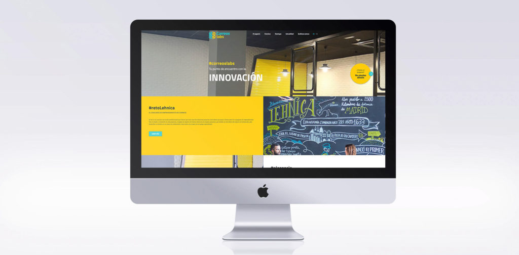 Mantenimiento contenido web Correos Lab