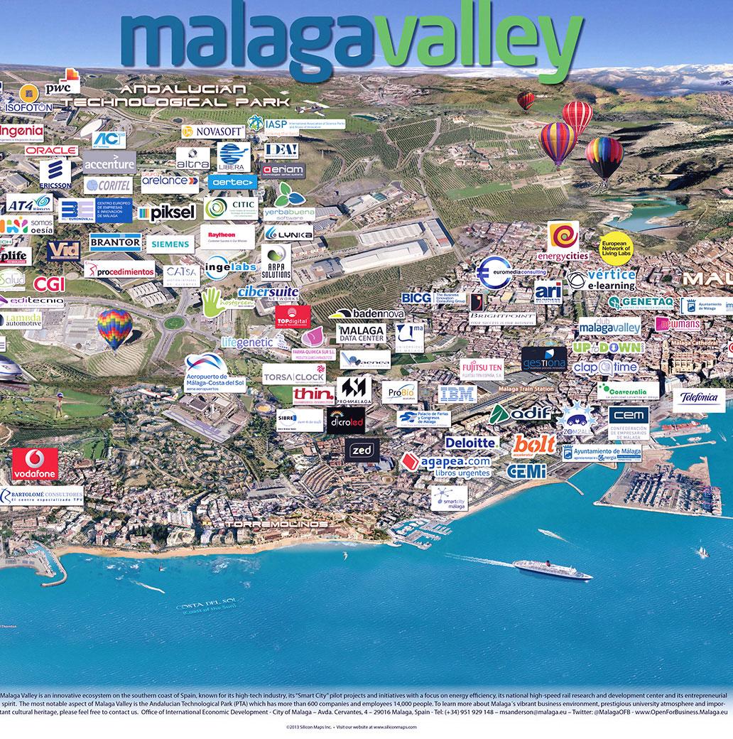 Mapa Malaga Valley